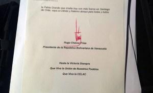 La firma de Chávez debería tener características de una persona enferma (Imagen)