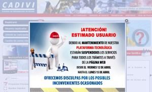 """Cadivi en """"mantenimiento"""" hasta el lunes"""
