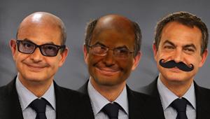 Las caras ROJAS de Zapatero… ¿a su zapato? (FOTOMONTAJE)