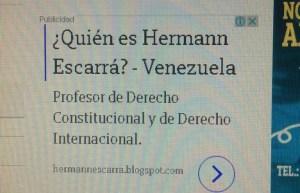 Hermann Escarrá y su capciosa publicidad pagada en Google