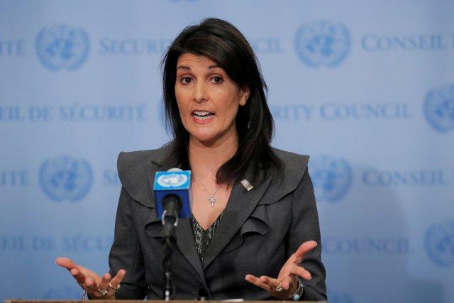 Embajadora estadounidense ante la Organización de las Naciones Unidas (ONU), Nikki Haley, REUTERS/Lucas Jackson/File Photo