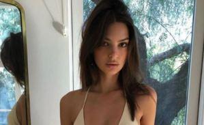 Emily Ratajkowski muestra puro lomito usando un bikini tan diminuto como el salario del venezolano (FOTOS)