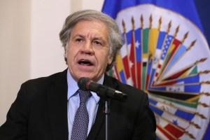 Luis Almagro: EEUU mantendrá su apoyo al presidente interino de Venezuela y a la ayuda humanitaria