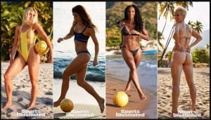 ¿Crees que te saquen tarjeta roja por contemplar a estas fútbol-mamasitas haciendo chilenas en la playa? (GOLAZO en bikini)