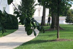 Agentes armados custodian la Casa Blanca ante aparente alerta (FOTOS y VIDEO)