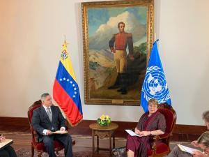 Los cuentos de camino quele echó Saab a Bachelet para excusar violaciones a DDHH en Venezuela