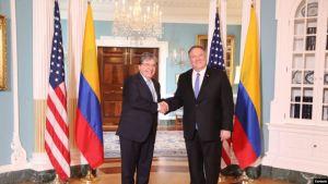 Carlos Holmes Trujillo reitera a Pompeo importancia de sanciones contra régimen de Maduro
