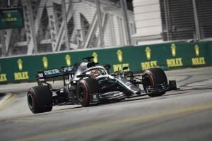 Lewis Hamilton fue el más rápido durante los ensayos libres en Singapur
