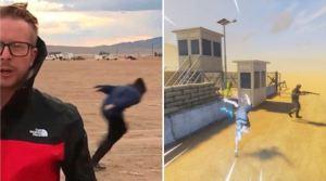 Qué hay detrás del video viral del joven que corre como Naruto en el Área 51