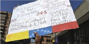 """""""No los dejemos solos en las protestas"""": Guaidó garantizó su respaldo total a los maestros"""