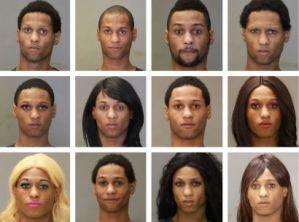 Fotos policiales revelan el talento de un ladrón de banco para cambiar de identidad
