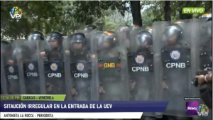 Funcionarios de la PNB dispersan concentración estudiantil con lacrimógenas en la UCV #14Nov