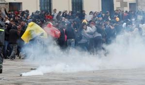 Un joven herido de gravedad en manifestaciones contra el Gobierno en Bogotá