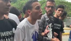 El emotivo discurso de un estudiante a los PNB desde la UCV: Esta lucha también es por ustedes #14Nov (VIDEO)