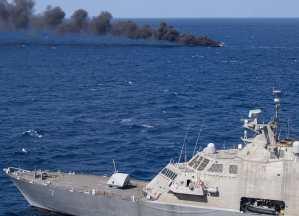 Novedoso buque de guerra del Comando Sur hundió un barco desconocido en el Caribe