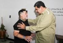 Así fue la última visita de Maradona al régimen de Maduro (FOTOS)