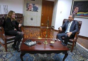 ¿De qué se trata la reunión de Maikel Moreno con la embajadora de Palestina?