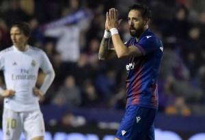 Levante sorprendió a un Real Madrid sin puntería que perdió el liderato de la Liga