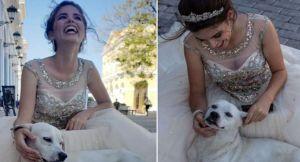 Esta quinceañera tomaba sus fotos… pero un Firulais le robó la atención (FOTOS)
