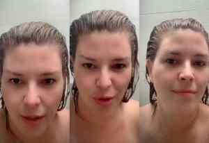 Día 8 de cuarentena: Alicia Machado subió video duchándose (VIDEO)