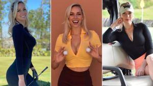 ¡Ay, papá! Discriminaron a esta despampanante golfista por usar un escote en un evento benéfico (FOTOS)