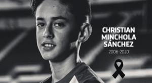 Profundo dolor en el Atlético Madrid: Murió una joven promesa del club de solo 14 años