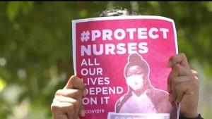 Sindicato de enfermeras de Los Ángeles exige el suministro inmediato de máscaras y guantes