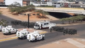 Mercado Las Pulgas se encuentra nuevamente militarizado este jueves #28May (Fotos)