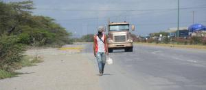 Guaros se aferran a largas caminatas para llegar a sus destinos