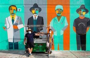 El HERMOSO mural que dedicó Edo Ilustrado a José Gregorio Hernández en Miami (FOTO)