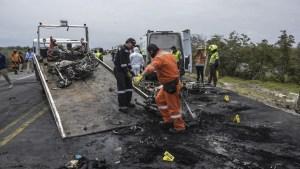 Asciende a 27 el número de muertos por el incendio de camión cisterna en Colombia