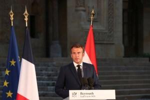 Desde el epicentro de la catástrofe en Beirut, Macron instó a una investigación internacional