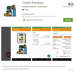 Un venezolano crea una aplicación que calcula el valor de las recetas y las ganancias de cada plato