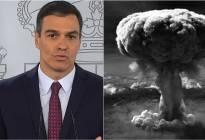 ¡UPS! Pedro Sánchez confundió la imagen de un videojuego con la bomba de Hiroshima (FOTO)