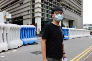 Régimen chino confinó al activista prodemócrata Joshua Wong en una celda en solitario y con las luces encendidas las 24 horas