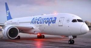 Air Europa incorpora un nuevo avión para cubrir la ruta Caracas-Madrid (Video)