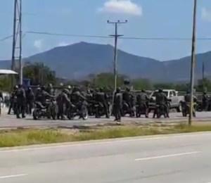 Contingente de esbirros del régimen salen en contra de manifestantes en Nueva Esparta #29Sep (VIDEO)