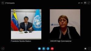 ¿Le compraría un dulcito? Maduro conversó con Bachelet sobre el informe de la ONU (Fotos)