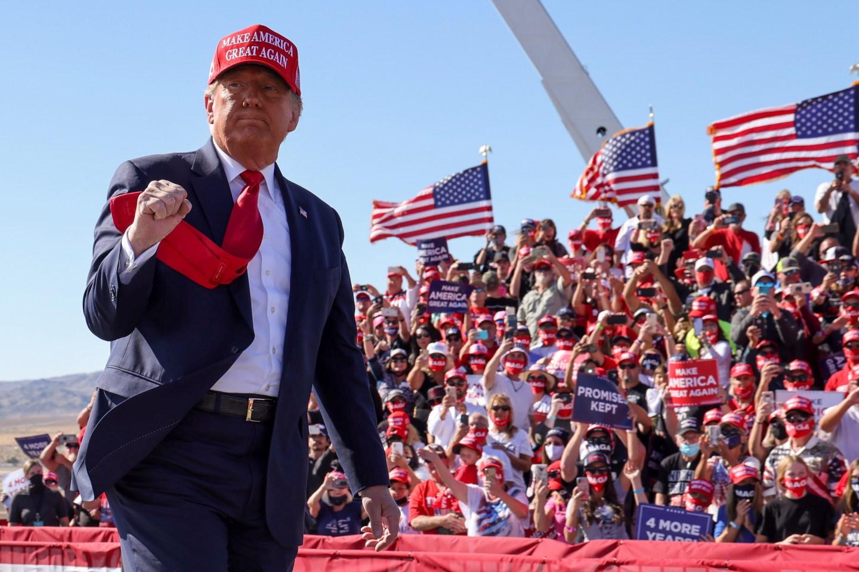 Trump llamó a trabajar en equipo para que EEUU no sea como Venezuela (Video)
