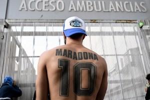 La última FOTO de Maradona tras ser operado de un hematoma en el cerebro