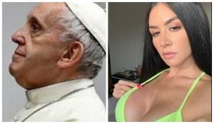 """Una vedette vs El Vaticano: El polémico comentario de Diosa Canales contra el Papa por su """"like pecador"""" (CAPTURA)"""