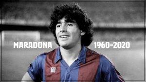 """""""Gracias por todo, Diego"""", se despide el Barcelona de su exjugador Maradona"""