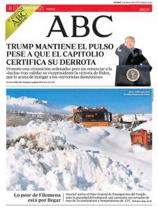 Portadas de la prensa internacional de este viernes 8 de enero de 2021