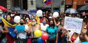 Manifestantes se dirigen hacia los Tribunales para exigir la detención del violador de una venezolana en Argentina #28Ene