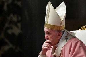 El papa Francisco pide el cese de las tensiones en Ucrania y ve con preocupación el incremento de la actividad militar