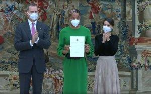La venezolana Yulimar Rojas recibe Trofeo Comunidad Iberoamericana de los Reyes de España (Fotos y Video)