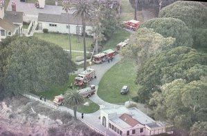 Encuentran a una pareja muerta al pie de un acantilado en un parque de Los Ángeles