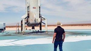 En VIDEO: La prueba de vuelo de Blue Origin, compañía de Jeff Bezos que prepara viajes espaciales