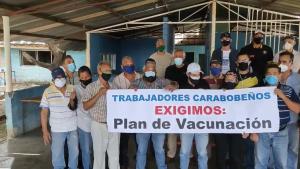 Personal médico y sociedad civil de Valencia también se movilizó bajo la exigencia del ingreso de las vacunas