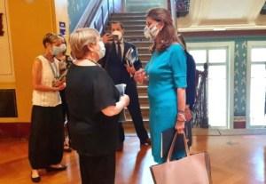 La Vicepresidenta y Canciller de Colombia se reúne con la comisionada de las Naciones Unidas para los DDHH, Michelle Bachelet